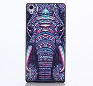 tribale modello pc elefante caso posteriore duro per Huawei Ascend p7