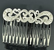 Cute Women Party Jewelry Clear Rhinestone Palace Hair Comb Headband