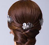 farfalla in argento placcato in lega strass copricapo da sposa (più colori)