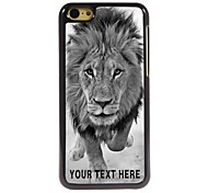 Personalized Phone Case - Wild Lions Design Metal Case for iPhone 5C