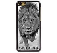 персонализированные телефон случае - дикие львы дизайн металлический корпус для iPhone 5с