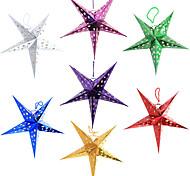 tridimensional de cinco pontas da estrela do Natal abajur (cor aleatória, 40cm)