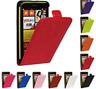 Flip-Open Horse Grain PU Leather Full Body Case for Nokia Lumia 625 (Assorted Colors)