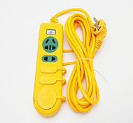 250V/16A Secure Socket with 5M Power Strips (Yellow)