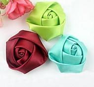4cm DIY Handmade Satin Fabric Rose Cloth Flowers Ornaments (15Pcs Random Delivery)