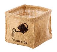 Jute Nostalgic Design Multi-Purpose Organizer Box