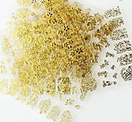 12PCS Mix Gold Sticker Nail Art Nail Decorations