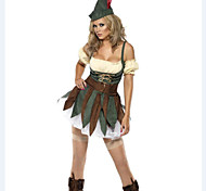 Sexy vestido verde Hunterwoman Halloween Costume (4 Pieces)