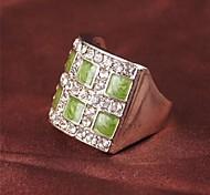 z&anillo declaración X® de los hombres de diamante de imitación de estilo europeo