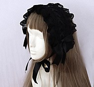 Black Ribbon and Lace Trim Gothic Lolita Headband