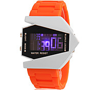 Women's Aircraft Style LCD Digital Silicone Band Water Resistant Wrist Watch (Assorted Colors)