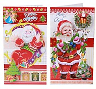 8 PCS Christmas Holiday Cards Postcards Greeting Cards swith Envelopes - Multi-Color (8 PCS)
