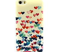 Love Pattern TPU Soft Cover for iPhone 5/5S