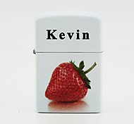 Personalized White Lighters - Strawberry