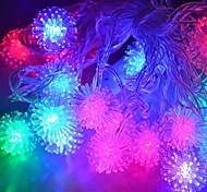 jiawen® 4m 20leds RGB luci stringa a palle di neve ha condotto la luce stringa di natale per la decorazione (ac 110-220V)