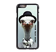 Personalized Phone Case - Ostrich Design Metal Case for iPhone 6