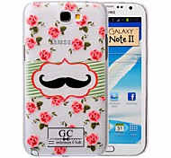Mustache Pattern PC Brushed Case for Samsung Galaxy Note 2 N7100