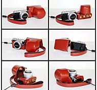 pajiatu® pu cámara piel aceite de cuero cubierta de la bolsa protectora caso para lumix panasonic cámara gm1 DMC-GM1