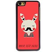 Personalized Phone Case - Rabbit Design Metal Case for iPhone 5C