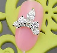 10PCS SH389 Top Noble White Zircon 3D Alloy nail art DIY Nail beauty Nail Decoration Nail Salon Nail