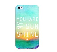 You Are My Sunshine Pattern Back Case for iPhone 4/4S