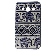 Elephant Pattern Back Case Cover for Samsung Galaxy Core 2 G3556D/G355H