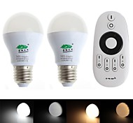 Zweihnder E26/E27 6 W 12 SMD 5730 500 LM Warm White/Natural White G Dimmable/Remote-Controlled/Decorative Globe Bulbs AC 85-265 V