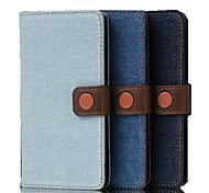5 Inch Denim Fabric Pattern Wallet Leather Case for LG  G3 mini(LG G3 Beat) (Assorted Colors)