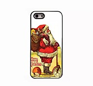 Christmas Pattern Metal  Soft Cover for iPhone 5/5S