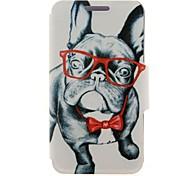 Для Кейс для Nokia Бумажник для карт / Флип Кейс для Чехол Кейс для С собакой Твердый Искусственная кожа Nokia Nokia Lumia 630