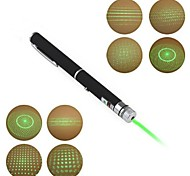 LT-012 Pen Shape 5-Patterns Green Light Laser Pointer(5Mw.532nm.2XAAA.Black)