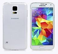 PU affaire souple transparent pour les Samsung Galaxy S i9500