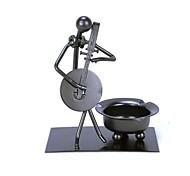 fanjiushi ® cendrier métallique maison ameublement décoration bureau de bureau art de la musique