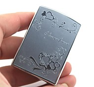 Personalized Engraving Vine Pattern Silver Metal Electronic Lighter