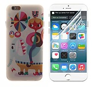 The Cartoon Design Hard with Screen Protector Cover for iPhone 6 Plus