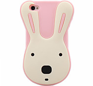 3D Cartoon Rabbit Pattern Silicon Rubber Case for iPhone4/4s(Assorted Colors)