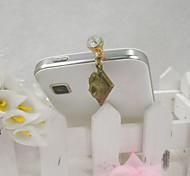 Fashion Delicate Camera Shape Alloy Diamante Anti-dust Plug for Universal Mobile Phone