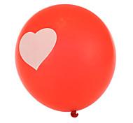 tamanho extra grande balões coração redondas vermelhas grossas - conjunto de 24