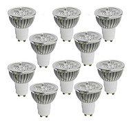 10 pcs GU10 4W 4 High Power LED 360-400 LM Warm White / Cool White / Natural White Dimmable LED Spotlight AC 110-130 V