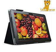 oso tímido ™ caso de la cubierta de cuero de la PU de litchi para Huawei MediaPad 10 enlace tableta de 10,1 pulgadas