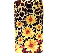 Leopard Flower Pattern TPU Soft Case for S5 I9600