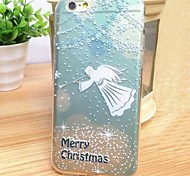 Fashion Stained Christmas Angel TPU Soft Case for iPhone 6