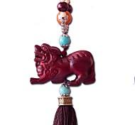 duo ji mi ® quattro piedi la divisione degli animali selvatici mitico sculture in legno ciondolo appeso auto decorazioni