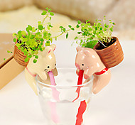 Desktop Cute Mini Animals Green Plant K2820