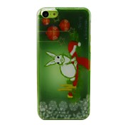 Christmas Rabbit Plastic Hard Back Cover for iPhone 5C