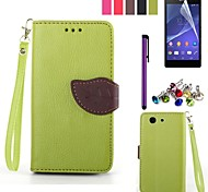 Leaf Design PU Leahter Case  for Sony Xperia Z3 Compact (Assorted Colors)