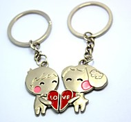 Personalized Engraving LOVE Metal Couple Keychain