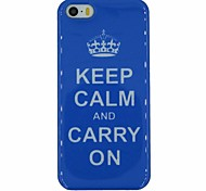 """Keep Calm And Carry on"" Words Pattern PC Hard Back Cover Case for iPhone 5/5S"