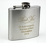 Personalized Stainless Steel 5-oz  Hip Flask-Thank You