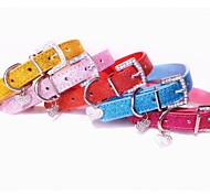 Bling Pu Leather Collar with Charms  for Dogs and Pets(assorted colours ,size)